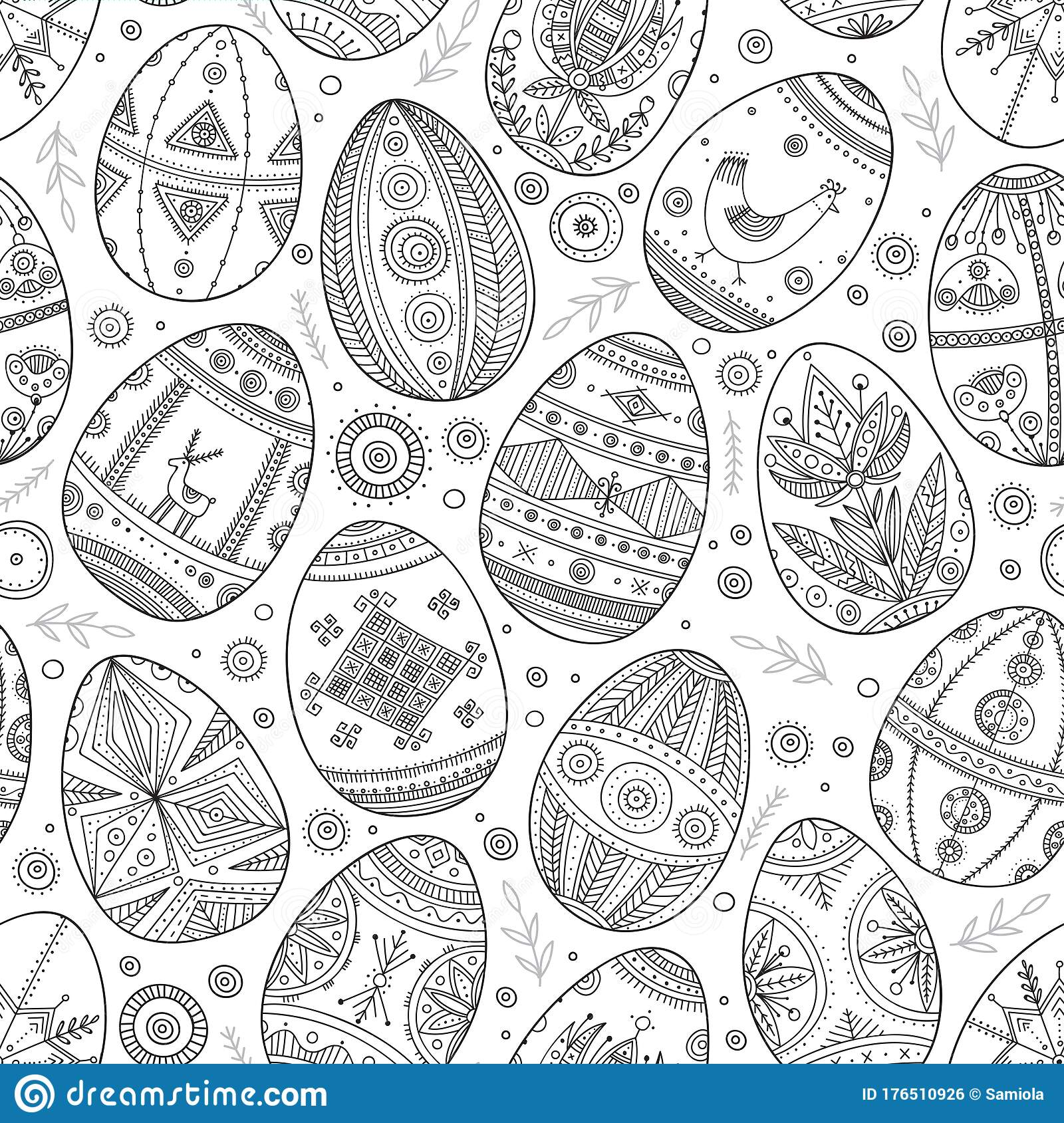 Intricate Easter Egg coloring page | Free Printable Coloring Pages | 1689x1600