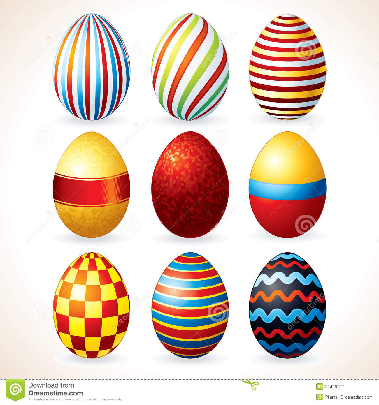 Easter Eggs. Vector Clip Art Royalty Free Stock Photography - Image ...