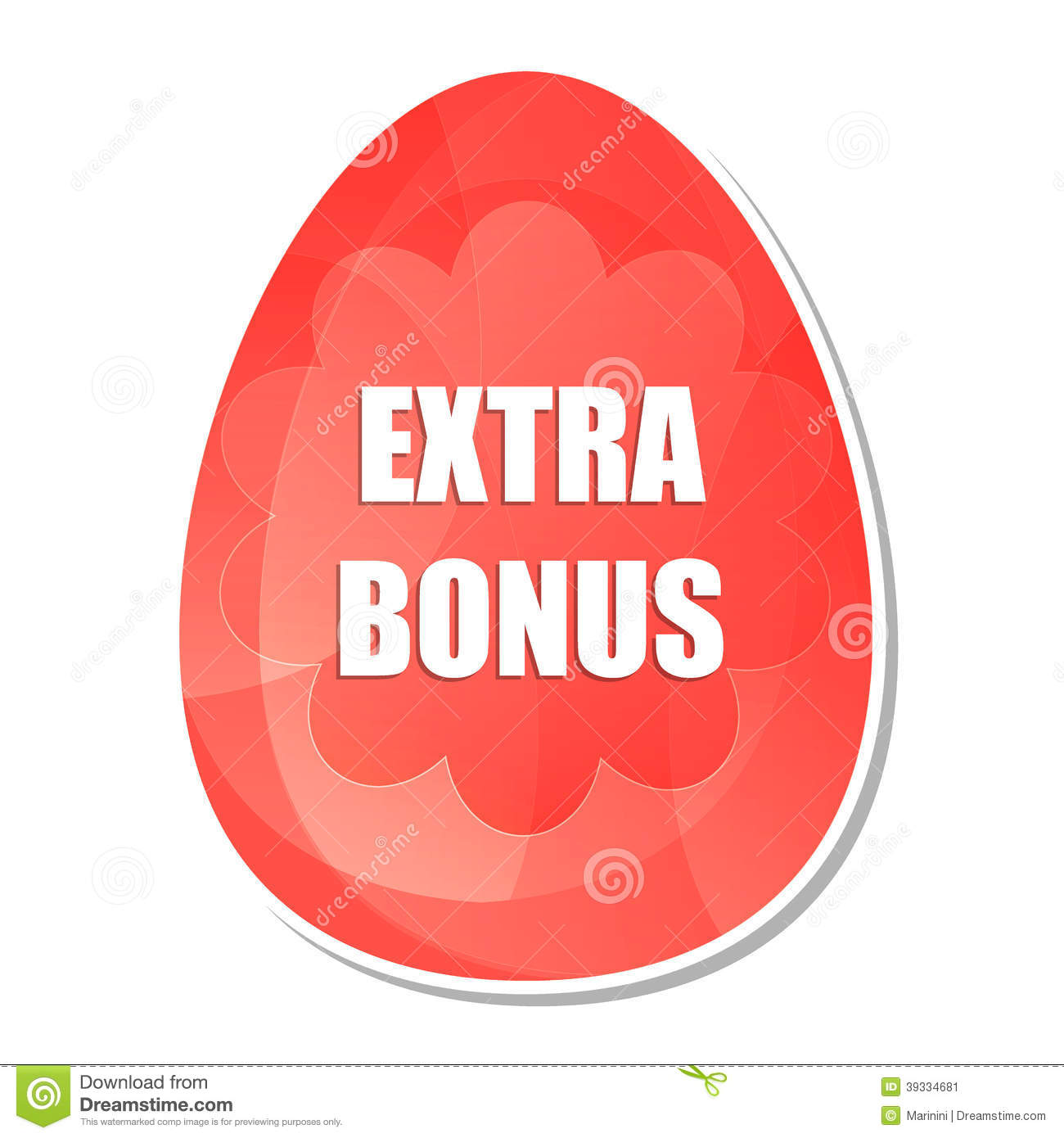 Extra Bonus Red Banner With Dollars Signs Stock Photo ...
