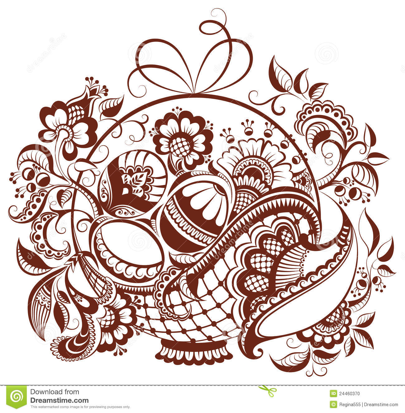 Easter Floral Henna Design Stock Photo Image 24460370