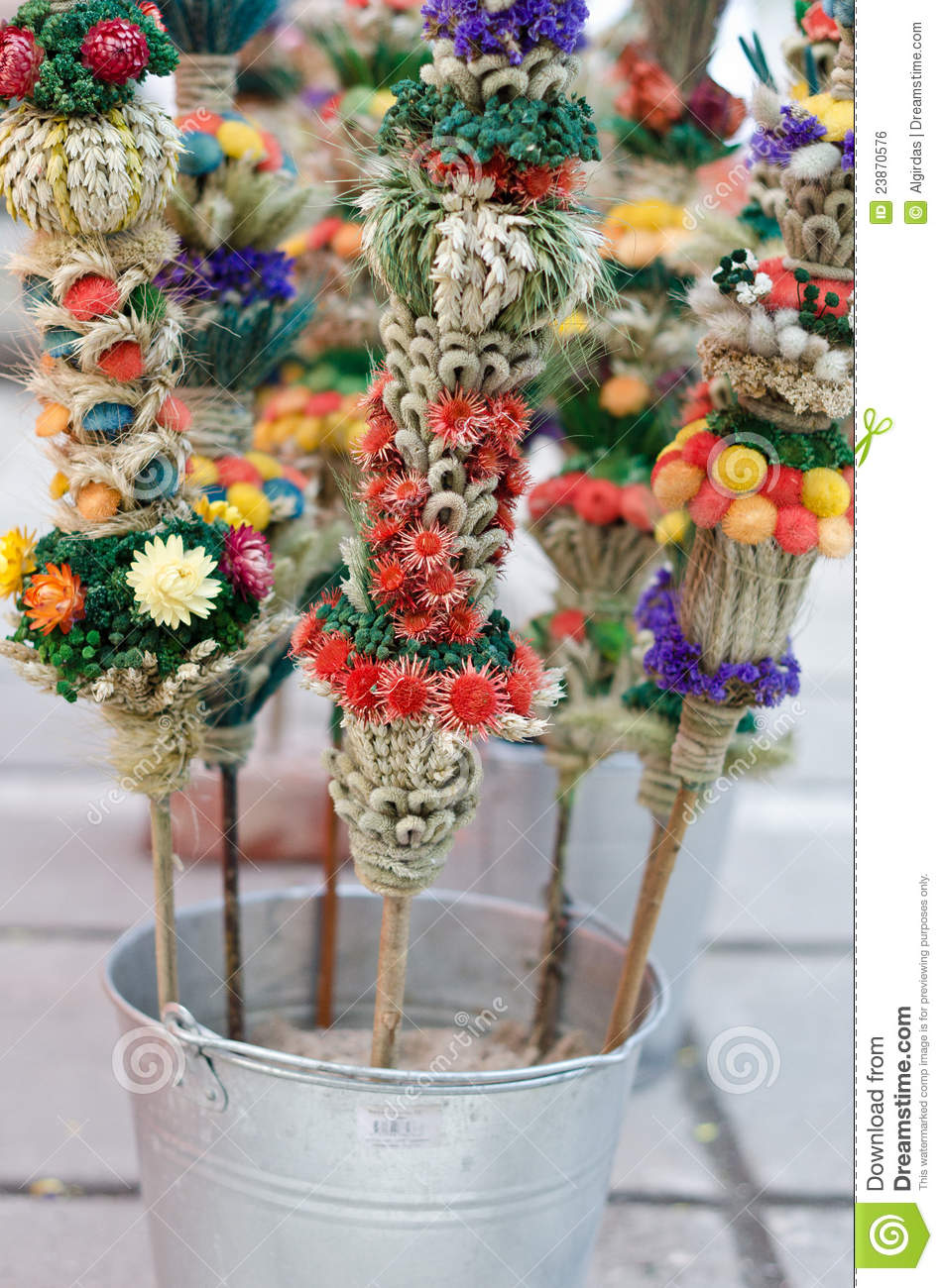 easter flower bouquets royalty free stock image