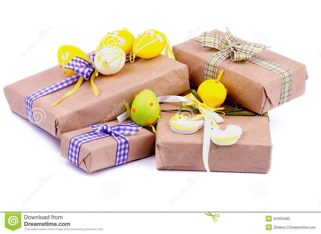 Easter gifts stock image image of goodies checked theme 34304465 royalty free stock photo negle Image collections