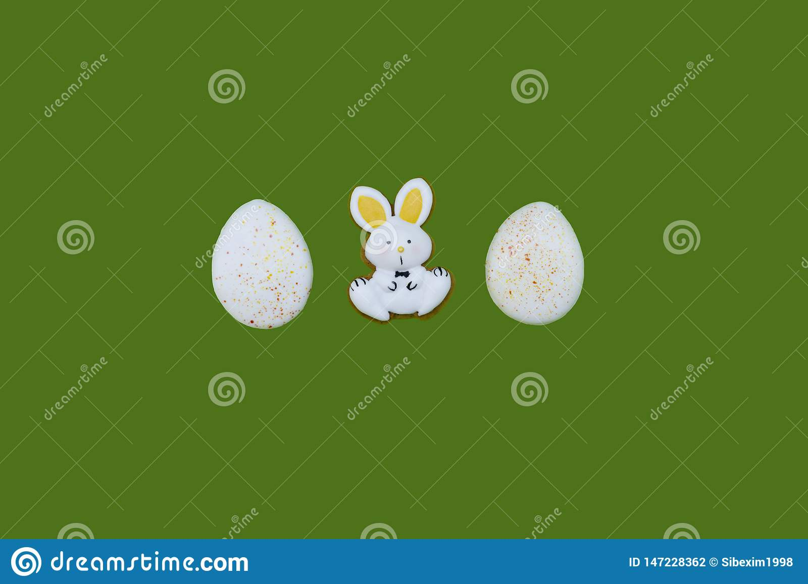 Easter gingerbreads as eggs and hares