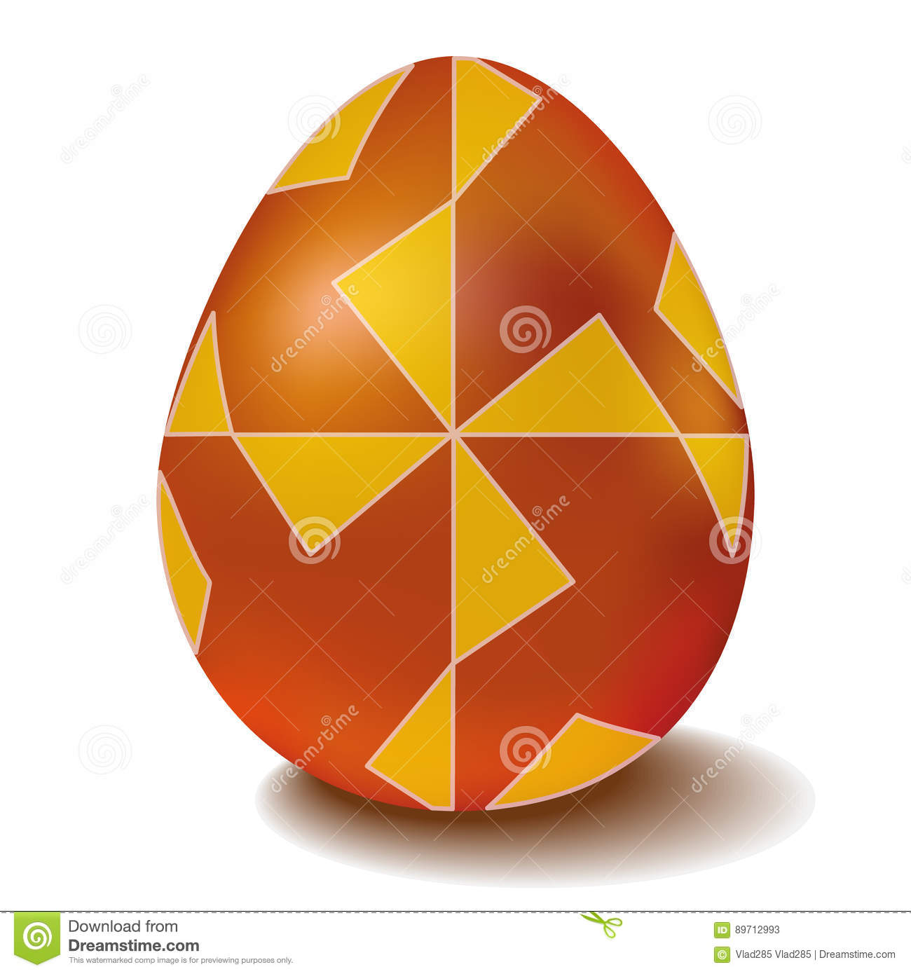 Easter Golden Egg With Ornament Windmill Stock Vector