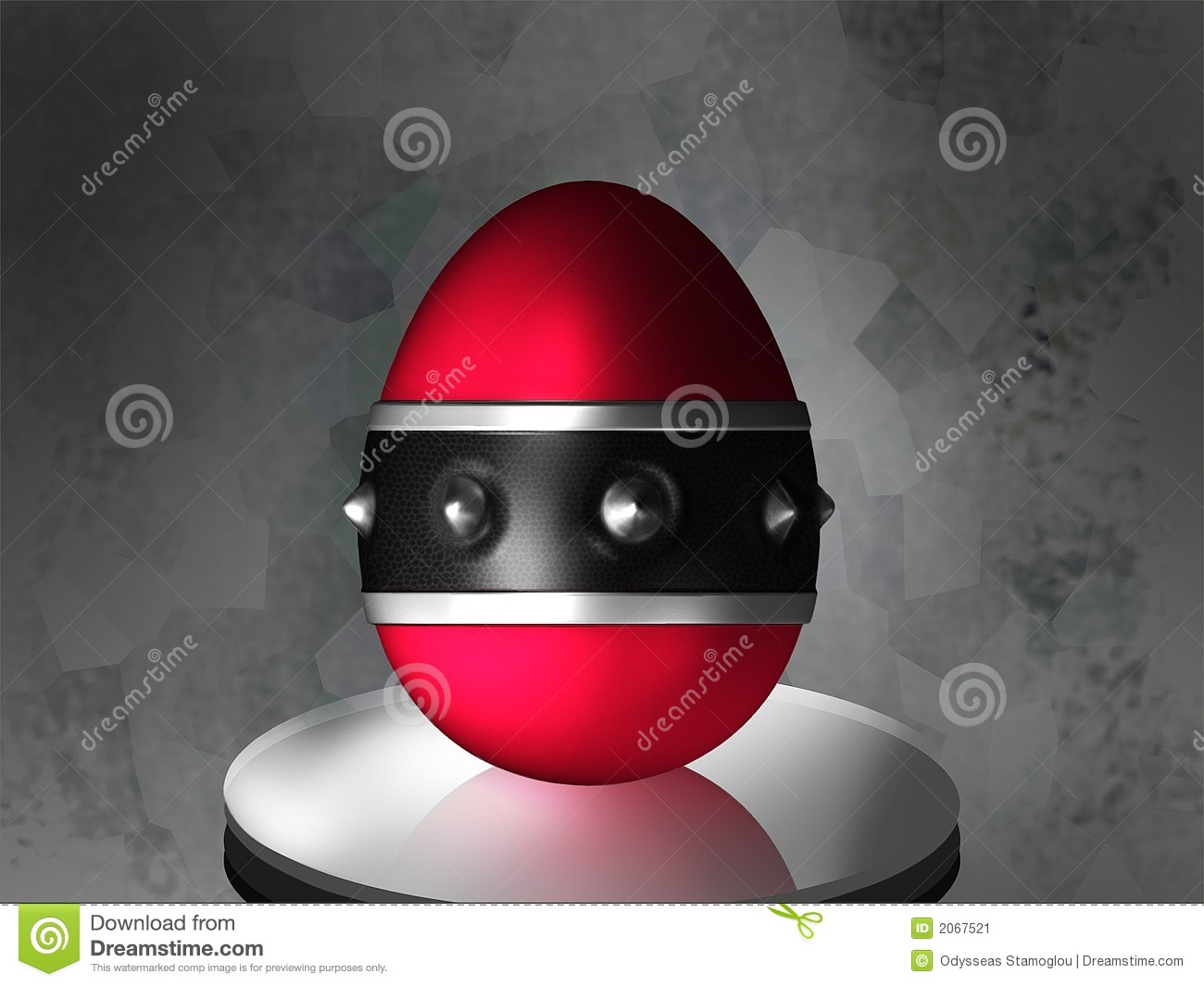 Easter Gothic Egg Stock Illustration Illustration Of