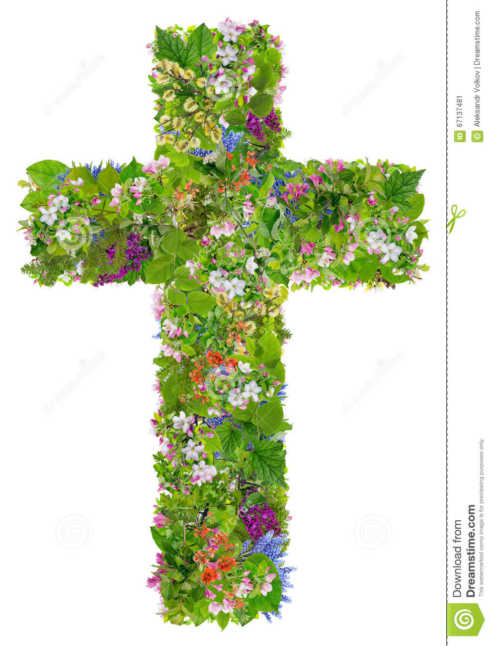 Easter Green Spring Cross Of Jesus Stock Image - Image of apple ...