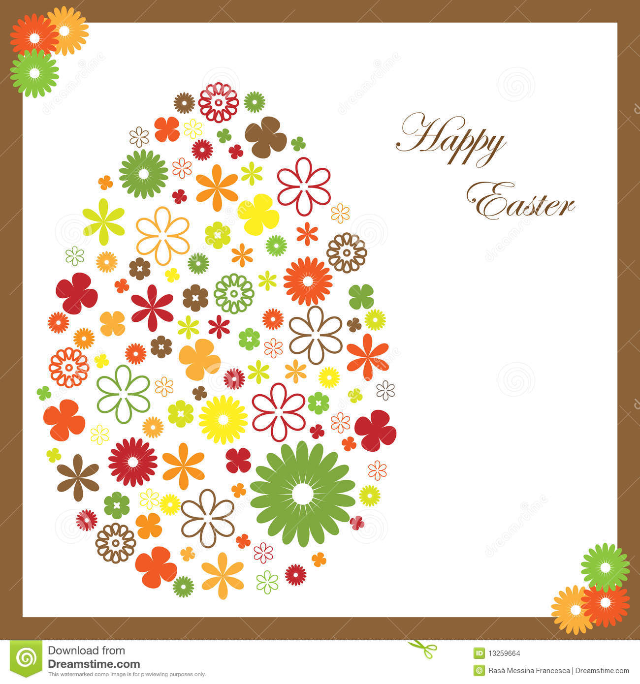 Easter Greeting Card Stock Vector Illustration Of Tradition 13259664