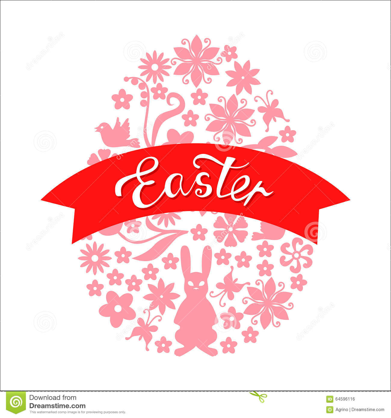 Easter greeting card stock vector illustration of hare 64596116 easter greeting card m4hsunfo
