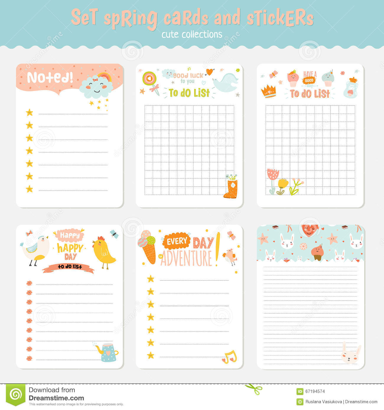 Easter Greeting Cards Tags Stickers And Labels Stock Vector