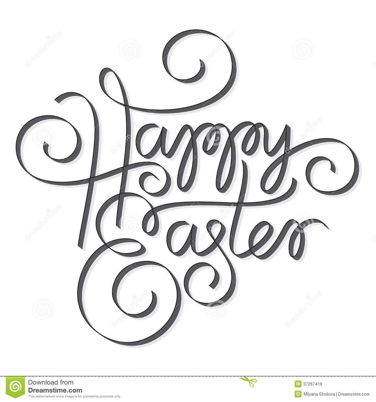 Easter hand lettering royalty free stock images image