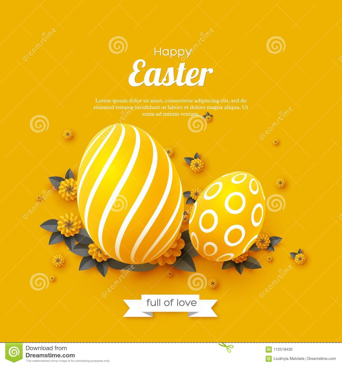 Easter Holiday Greeting Card Stock Illustration Illustration Of