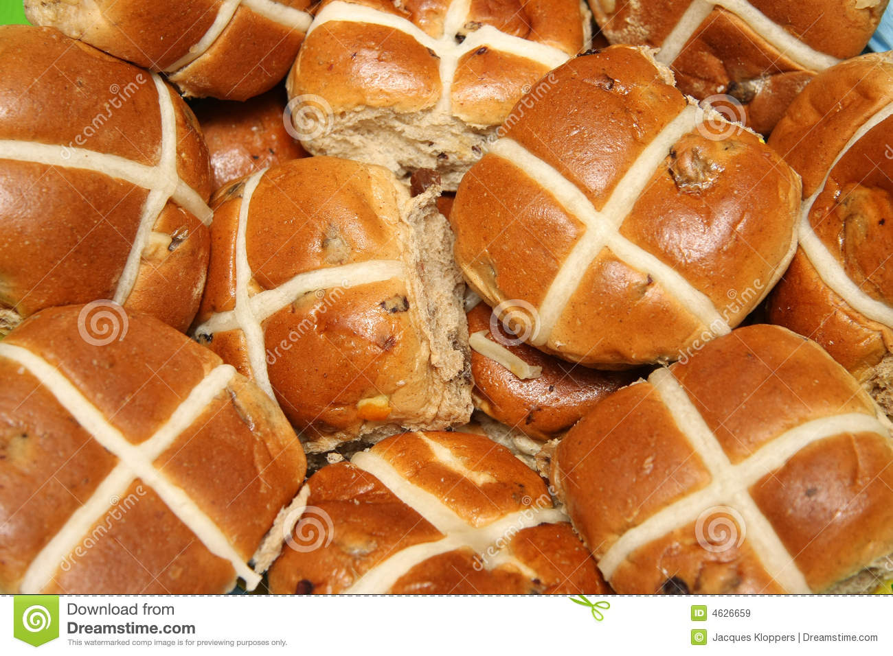 Easter Hot-cross Buns Royalty Free Stock Images - Image: 4626659
