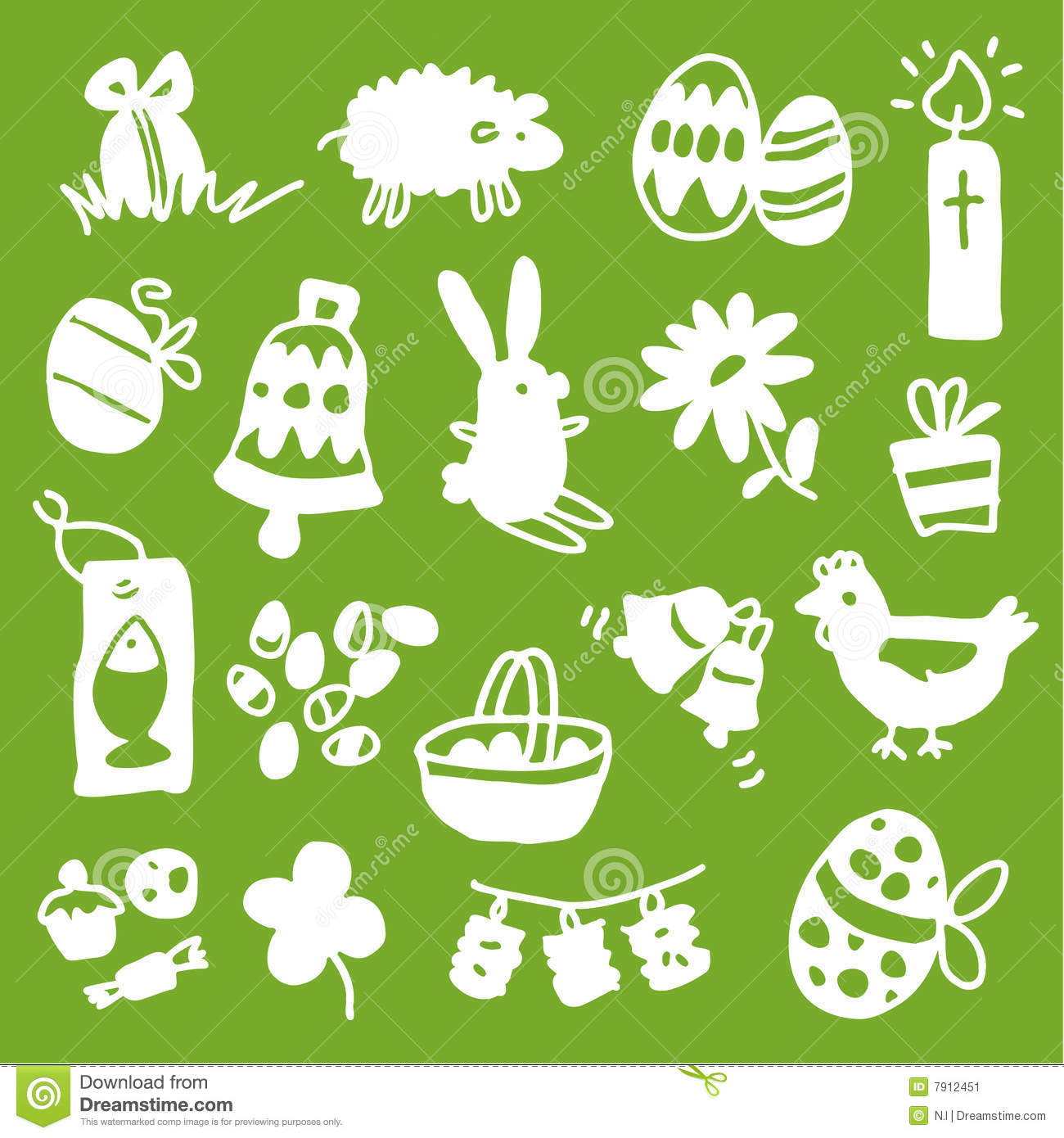 Download Easter icons - silhouettes stock vector. Illustration of spring - 7912451