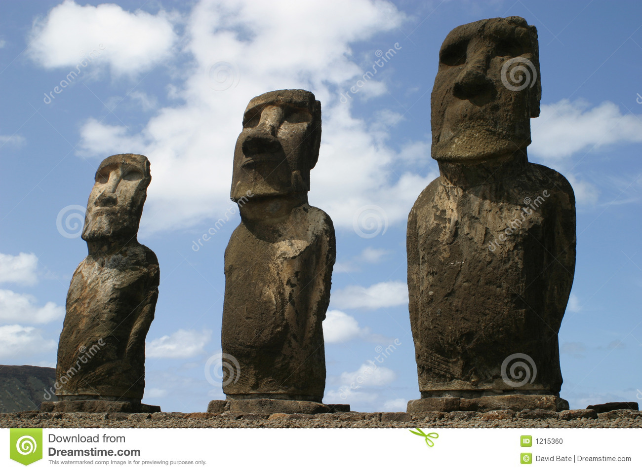 Easter island stock photo image