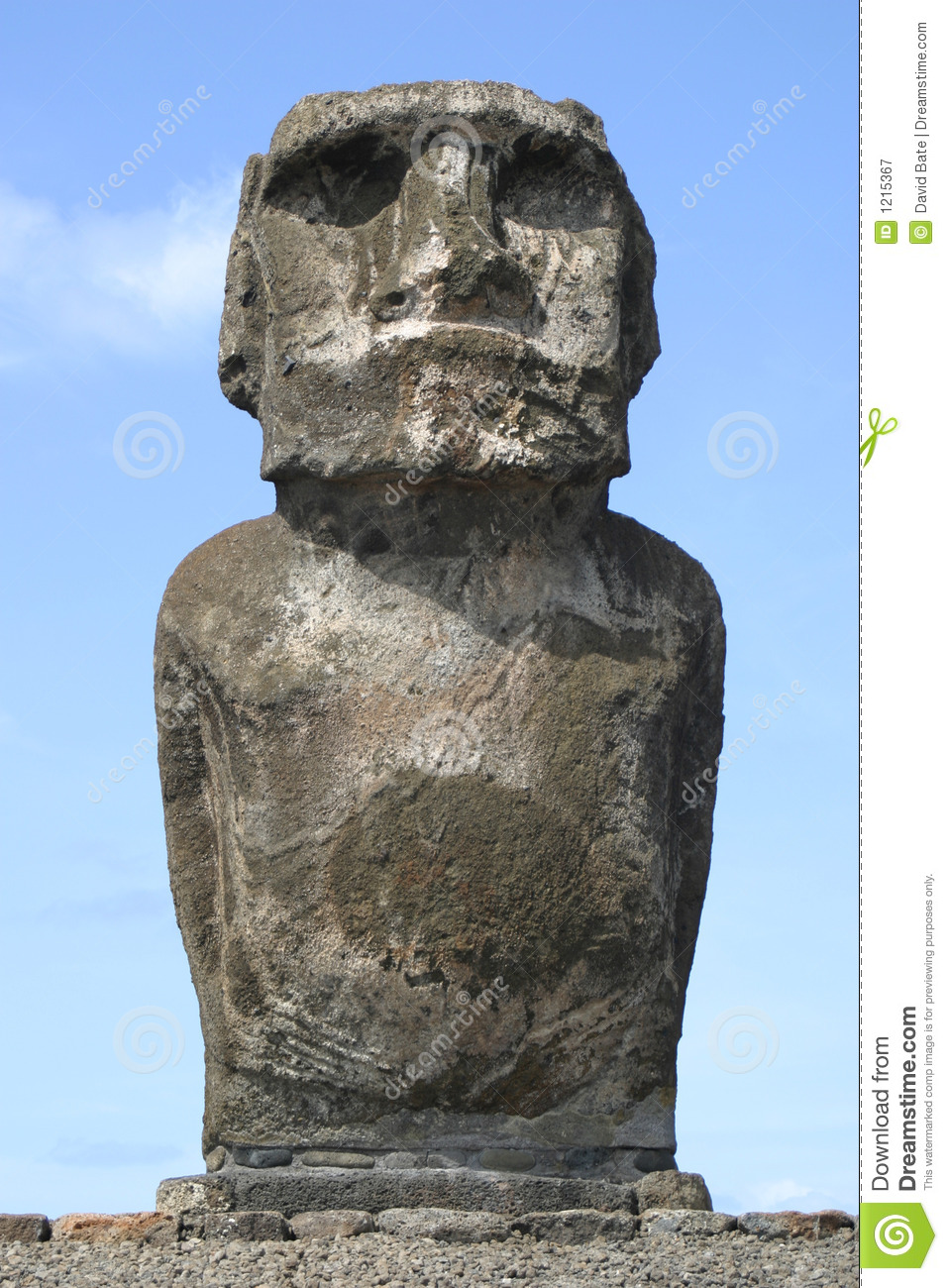 Easter island lonely statue royalty free stock photography