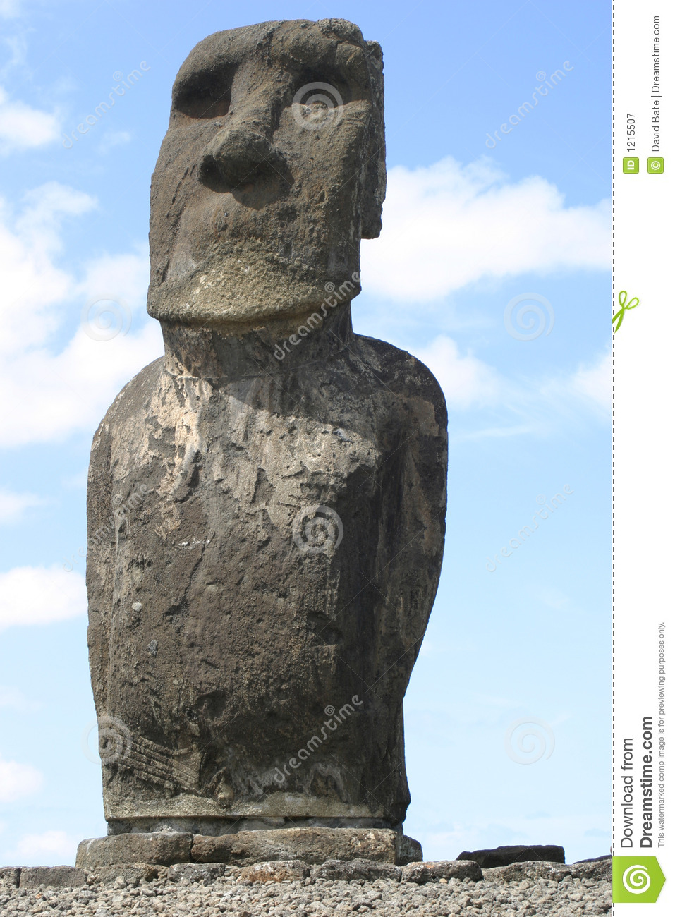 Easter island solitary statue royalty free stock