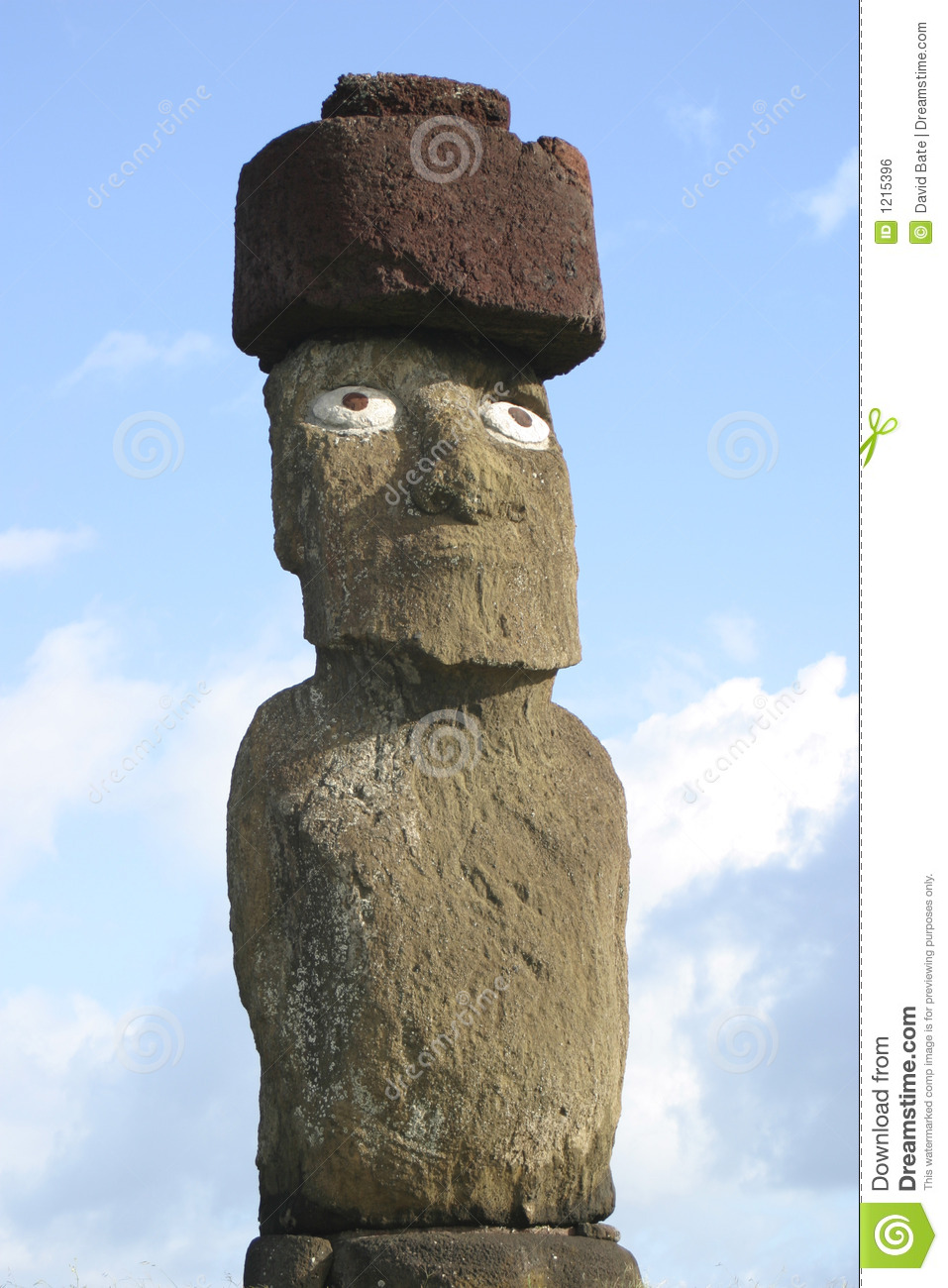 Easter island statue with hat stock photo image