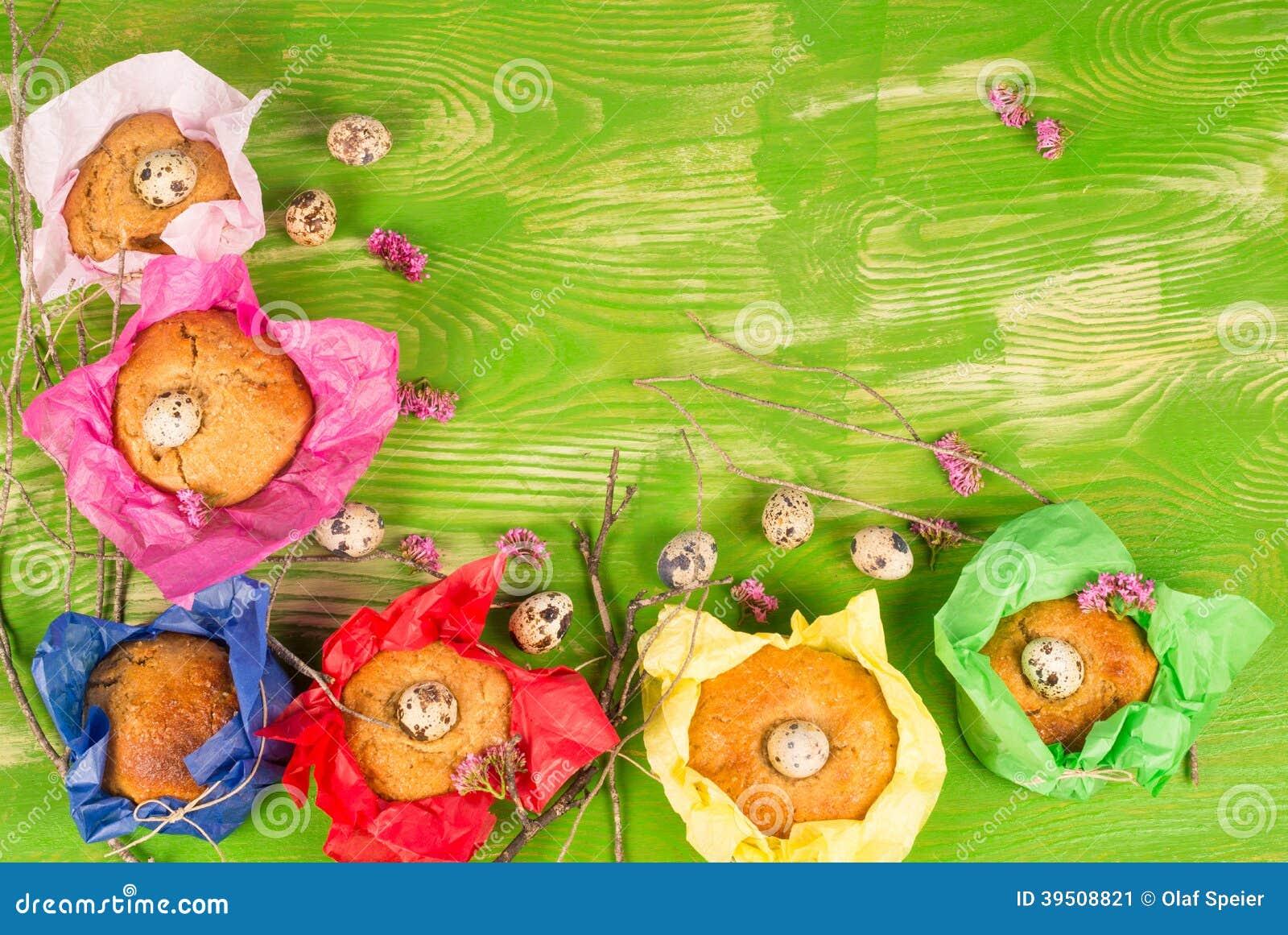 Easter kid food background