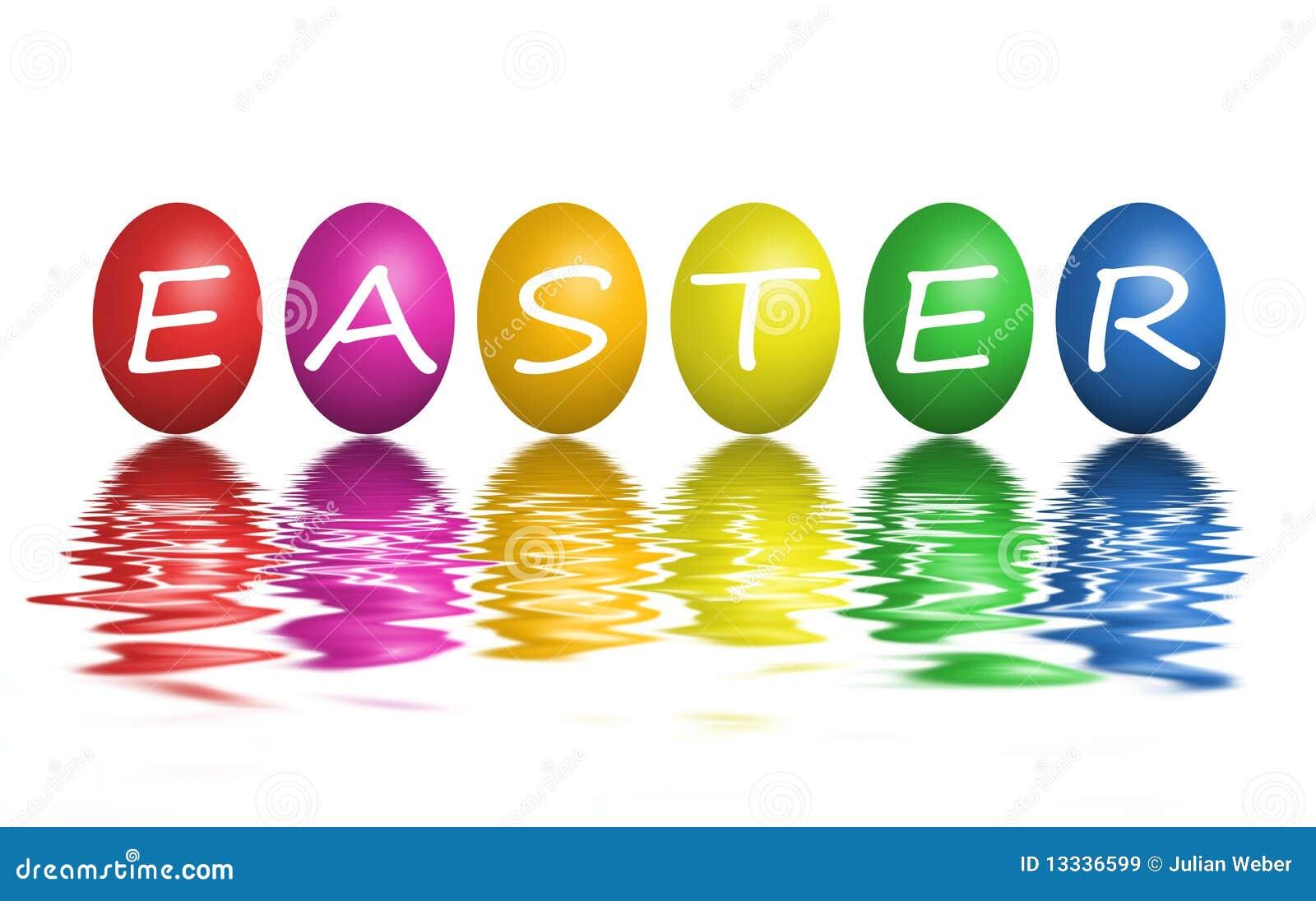 Easter kolorowi jajka odizolowywali biel