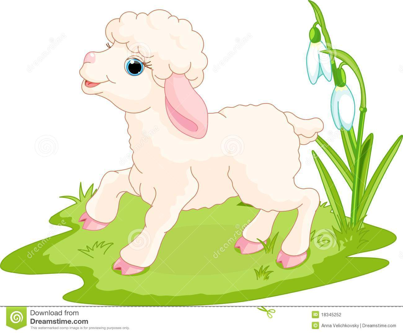 Easter Lamb Stock Vector. Image Of Single, Life, Nature