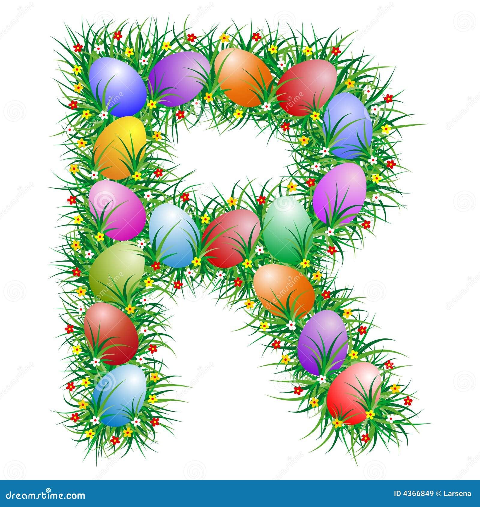 Easter Letter R Stock Vector Illustration Of Letter 4366849
