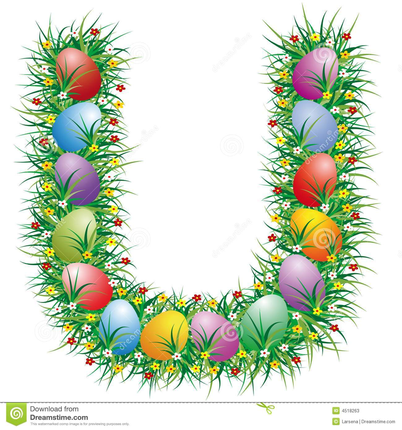 Easter Letter U Stock Photos - Image: 4518263