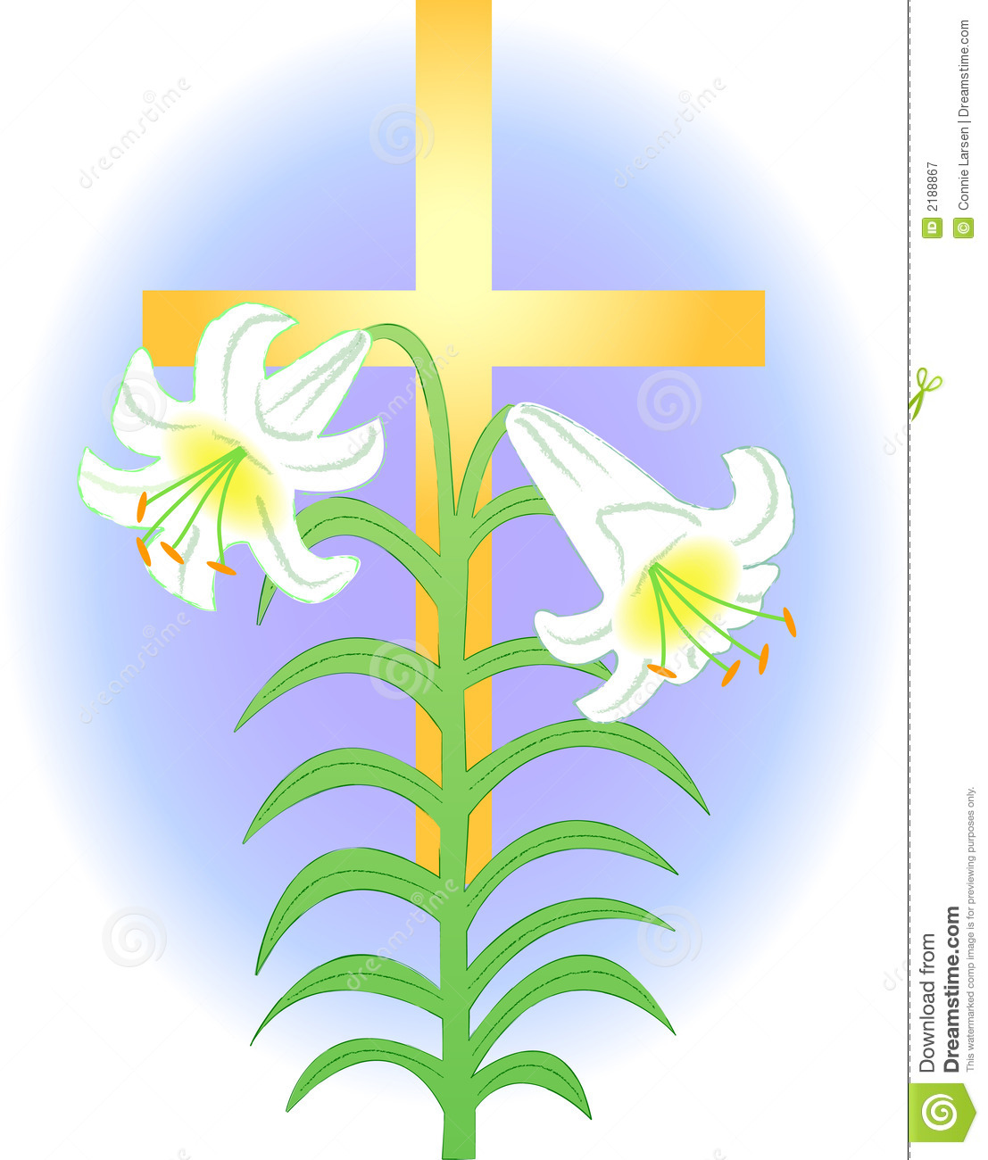 Easter Lily and Cross/eps