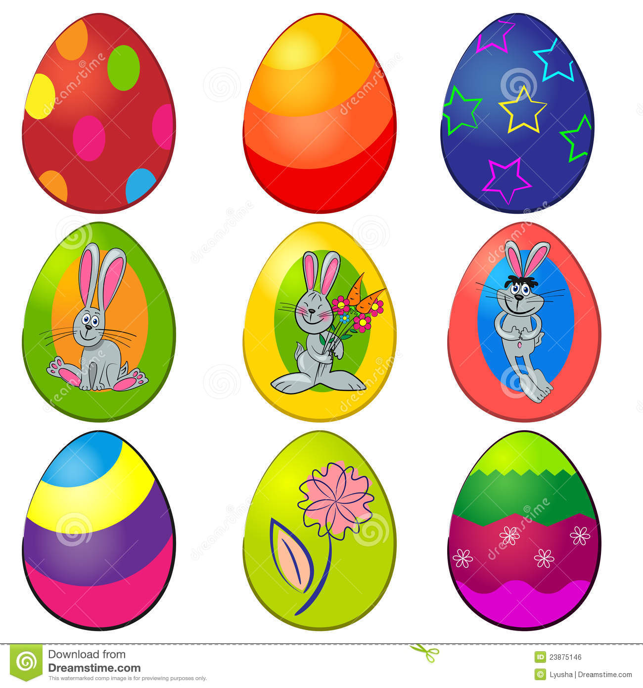 Easter painted egg set