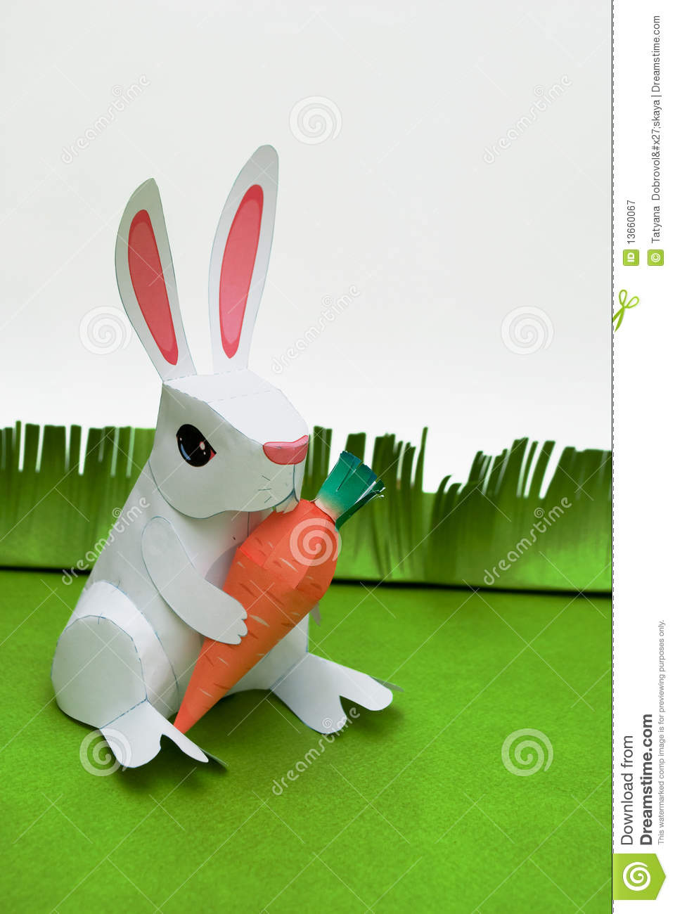 Easter Paper Rabbit Royalty Free Stock Photography Image