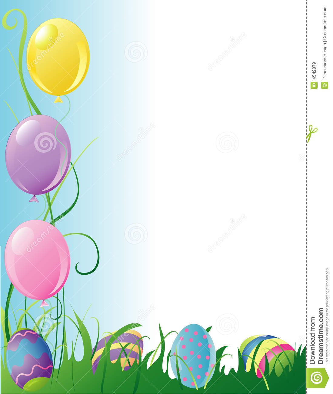 Easter Party Border Royalty Free Stock Images - Image: 4542879