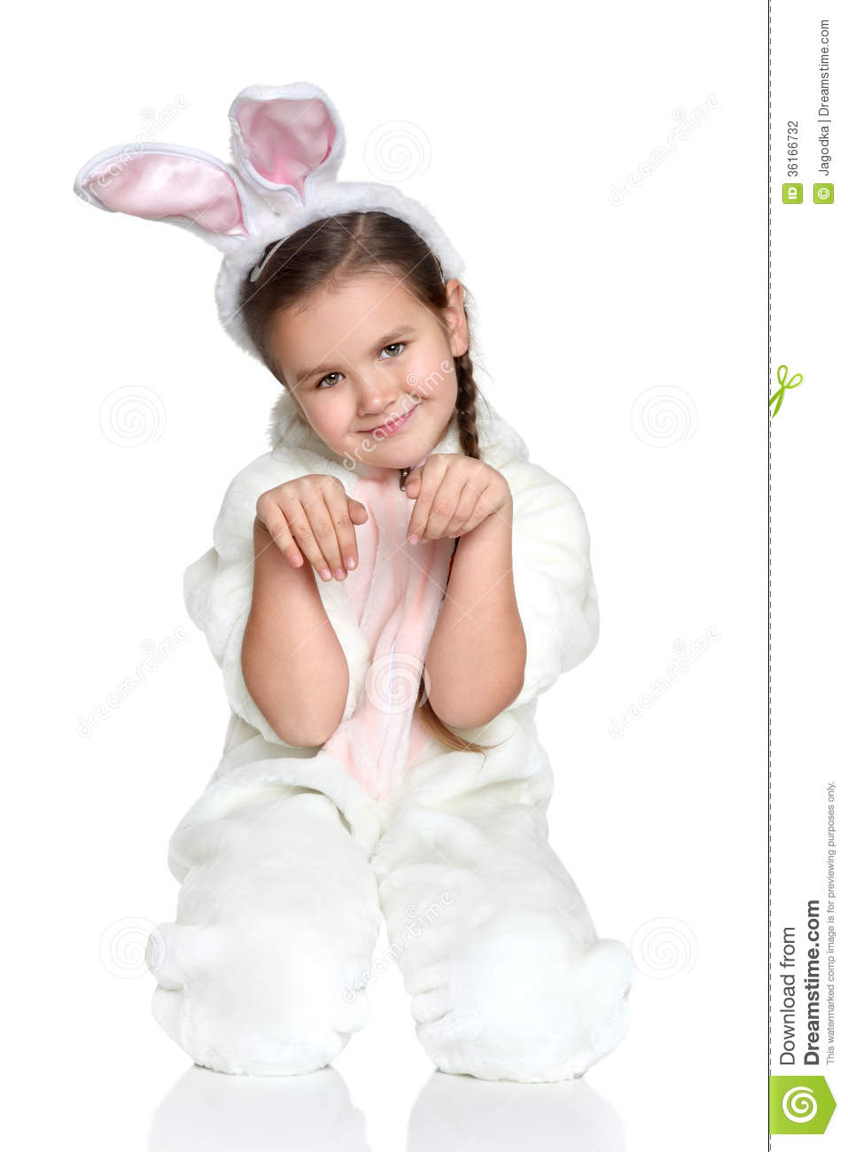 easter picture of young girl wearing pink easter bunny