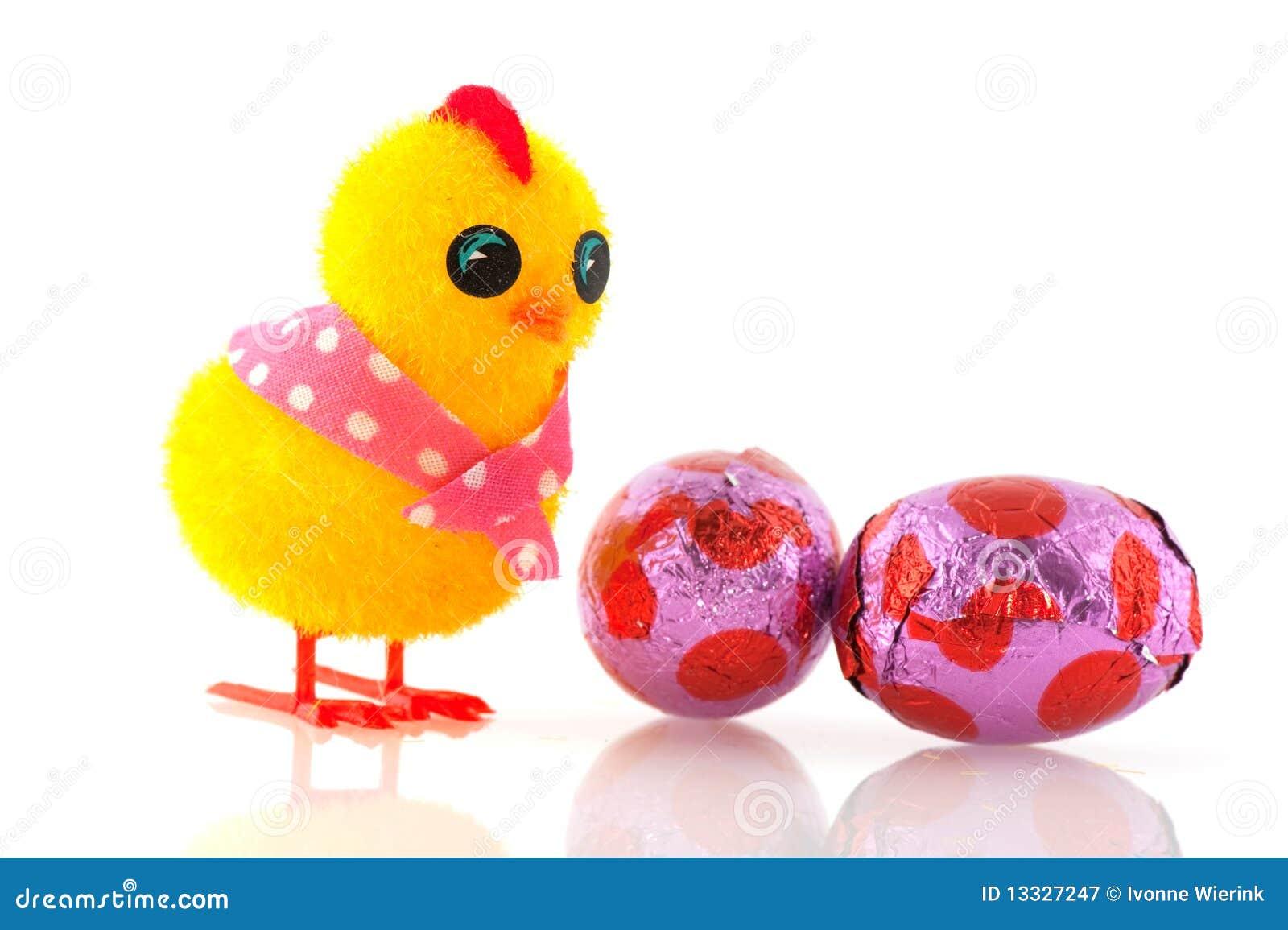 Easter pisklęcy jajka