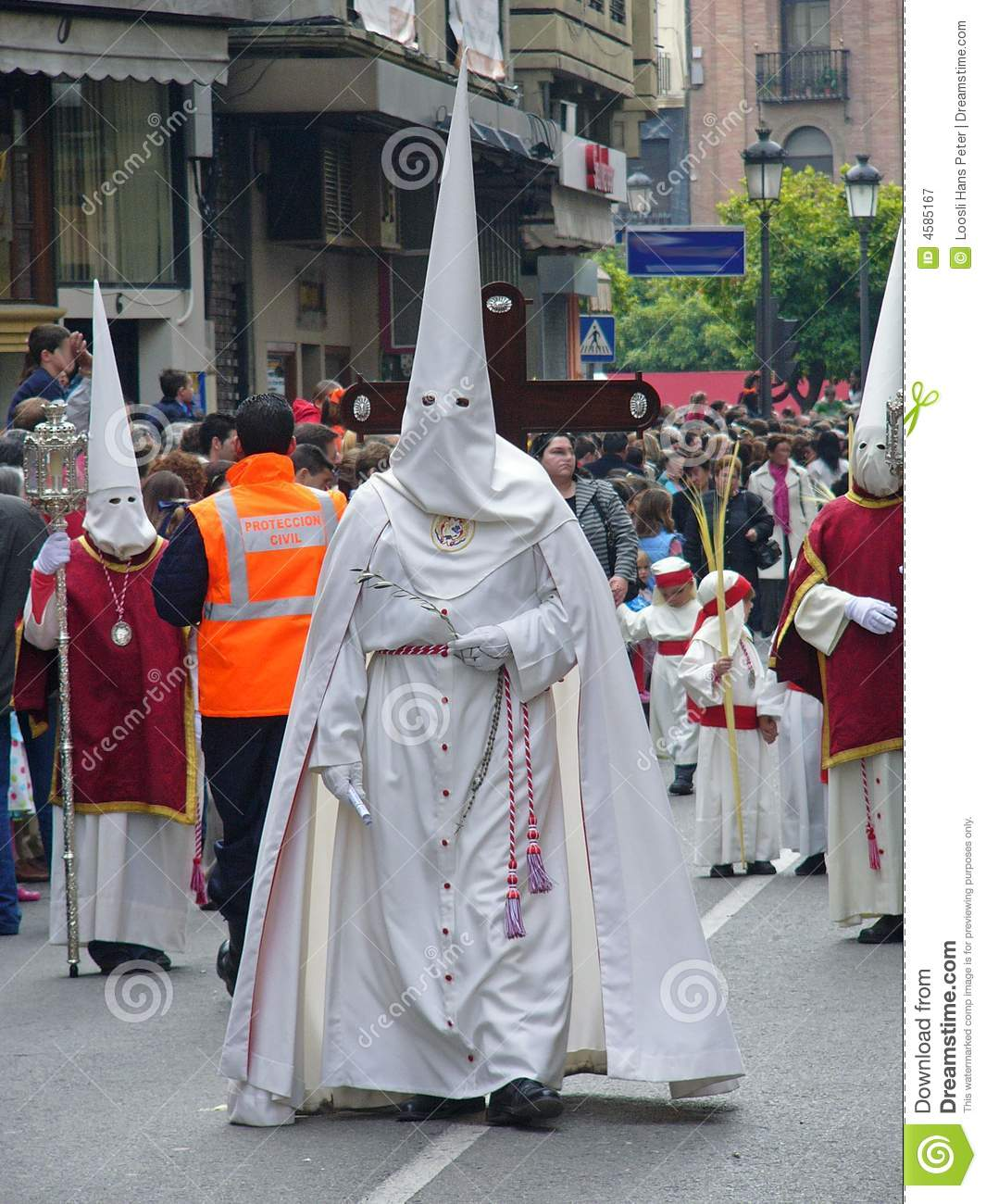 easter procession in cordoba spain editorial photography