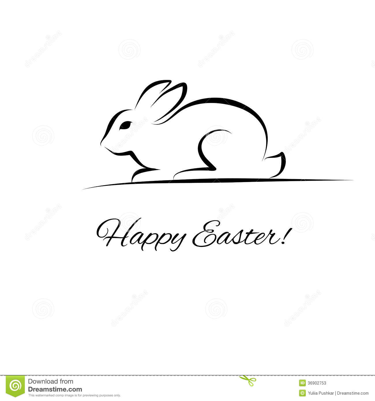 easter rabbit stock photos image 36902753