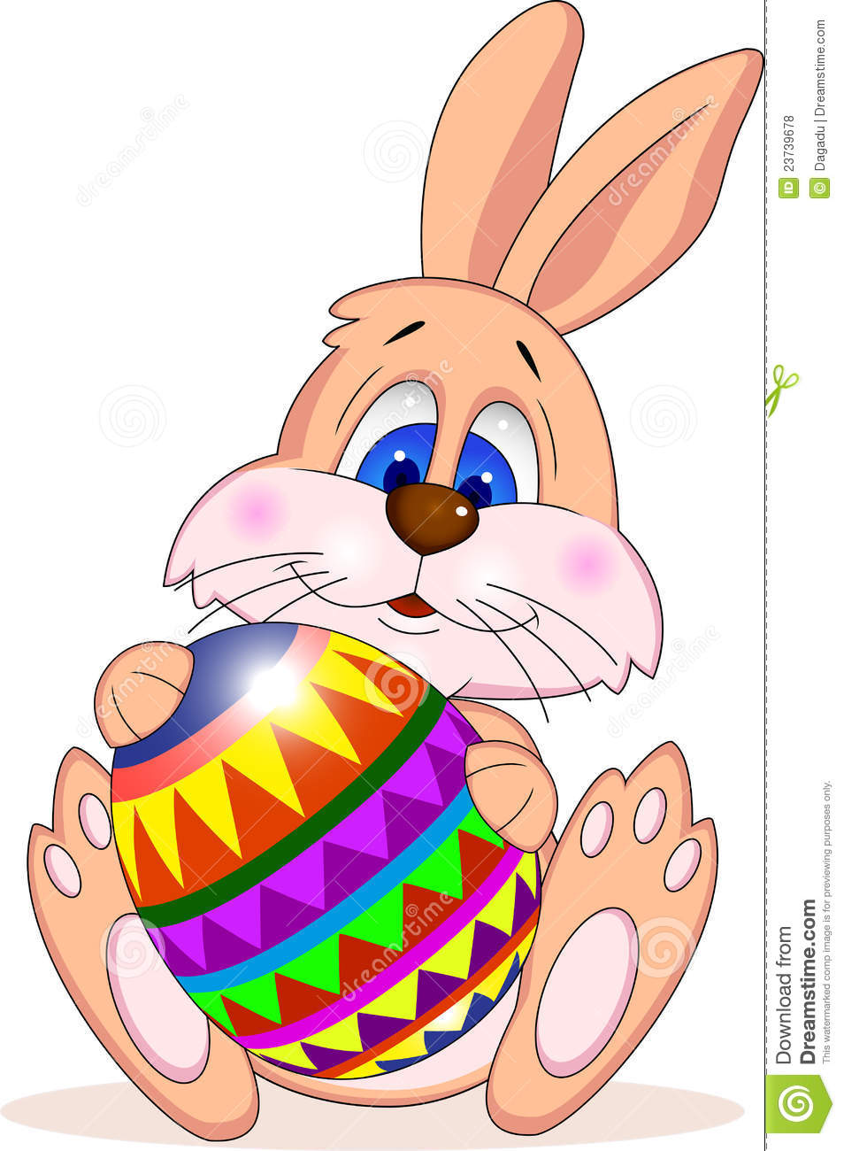 Easter Rabbit With Easter Egg Stock Vector Image 23739678
