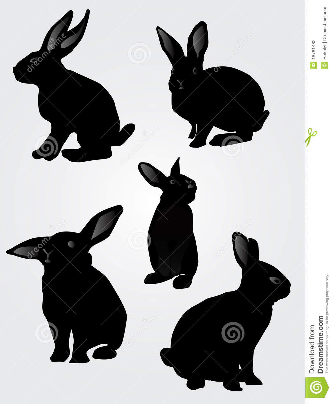 Easter Rabbit Silhouettes Stock Photography - Image: 18761482