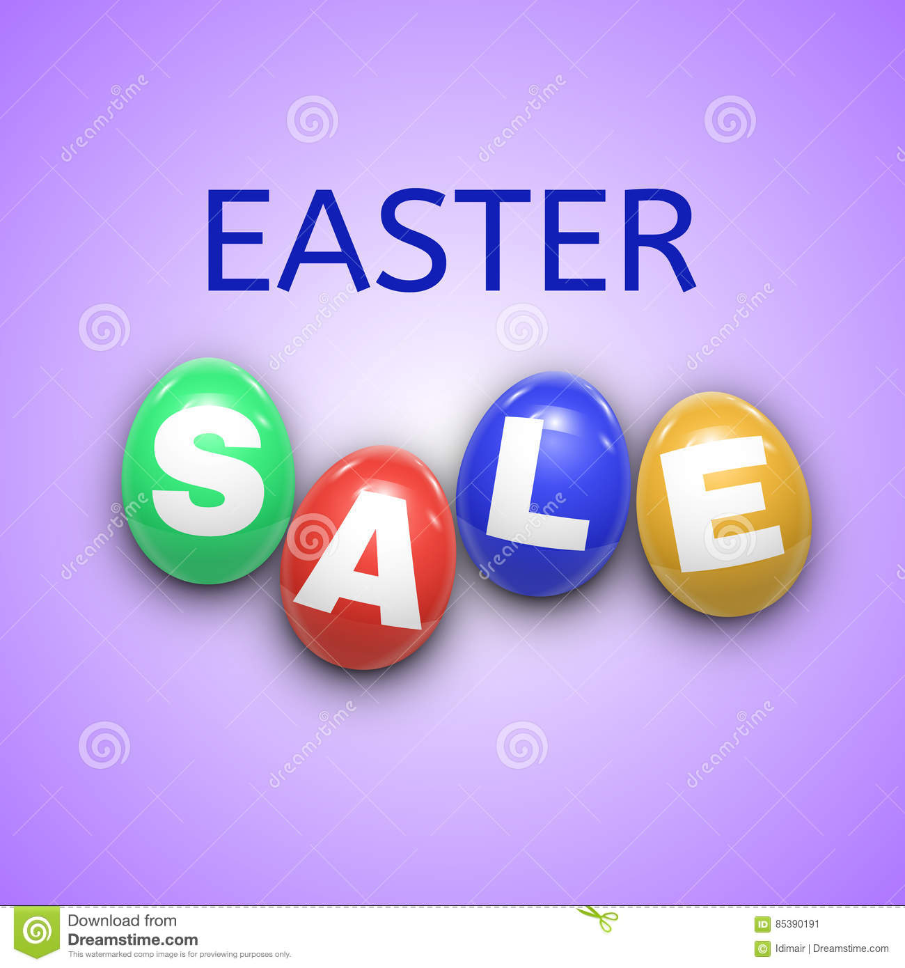 Easter Sale: Easter Sale Background With Eggs. Vector Stock Vector