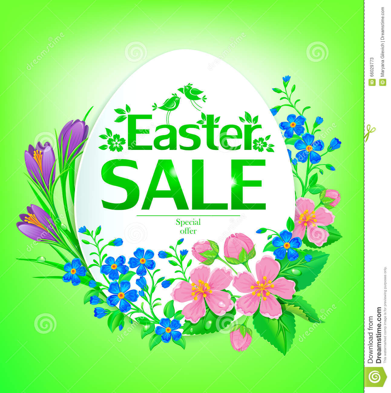 Easter Sale: Easter Sale Stock Vector. Illustration Of Background