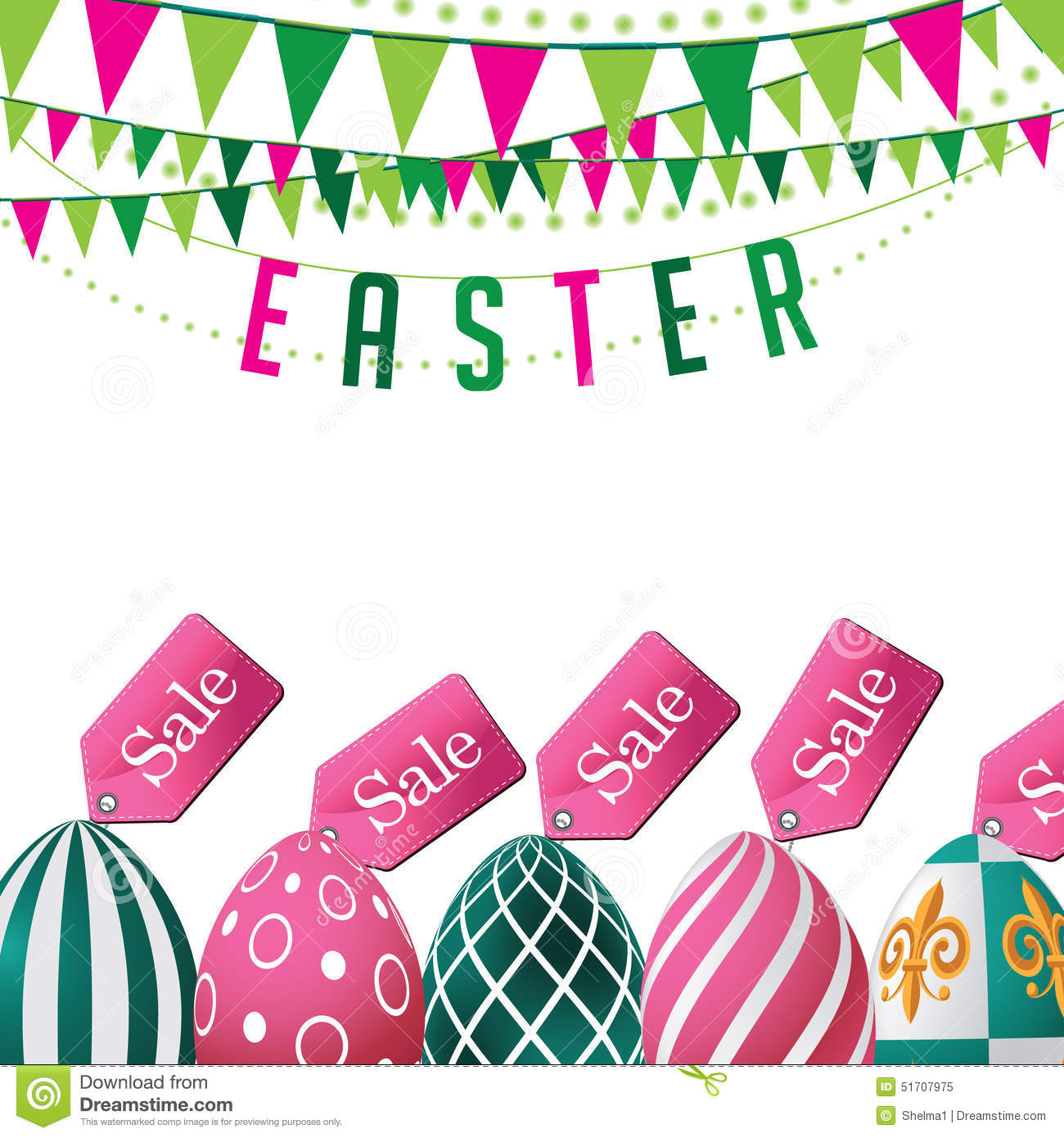 Easter Sale: Easter Sale Eggs Background. EPS 10 Vector Stock Vector