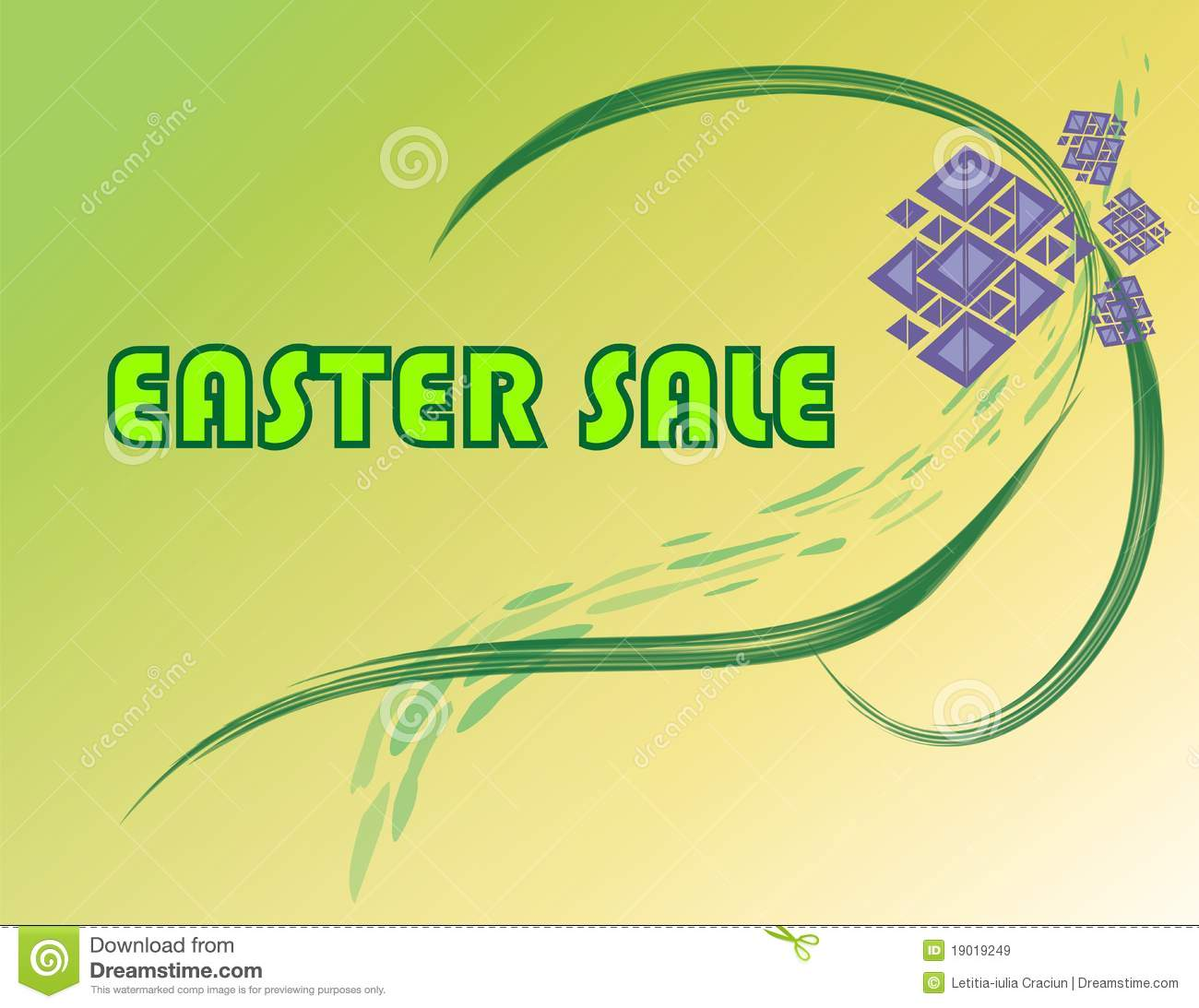 Easter Sale: Easter Sale Sign Royalty Free Stock Images