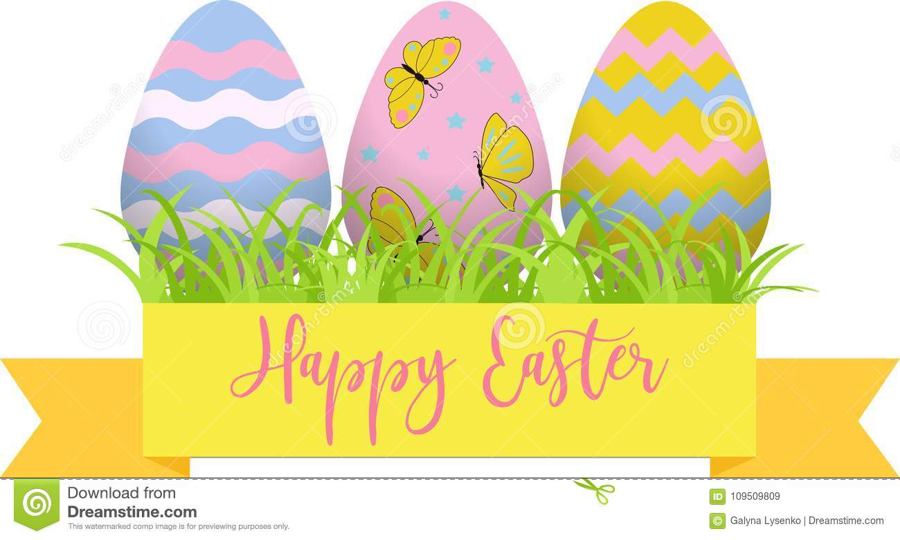 Decorative easter eggs easter scenee main symbols of the holiday download comp negle Image collections