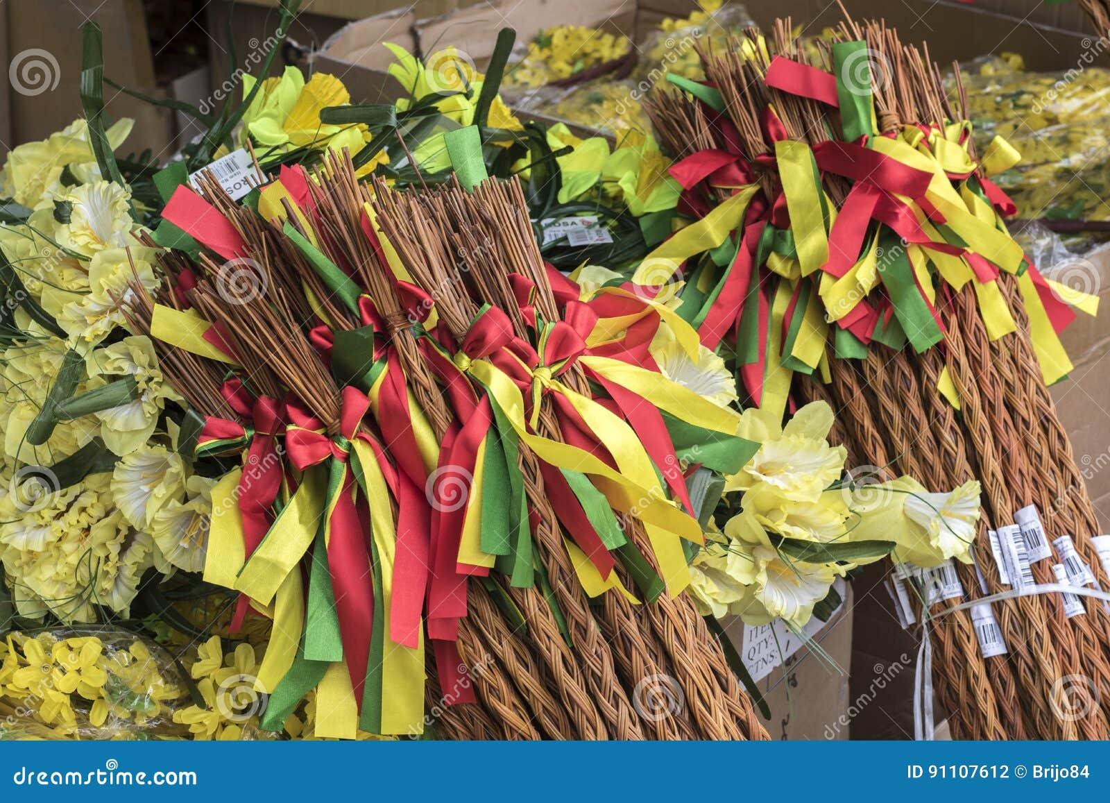 Easter season - flowers and sticks