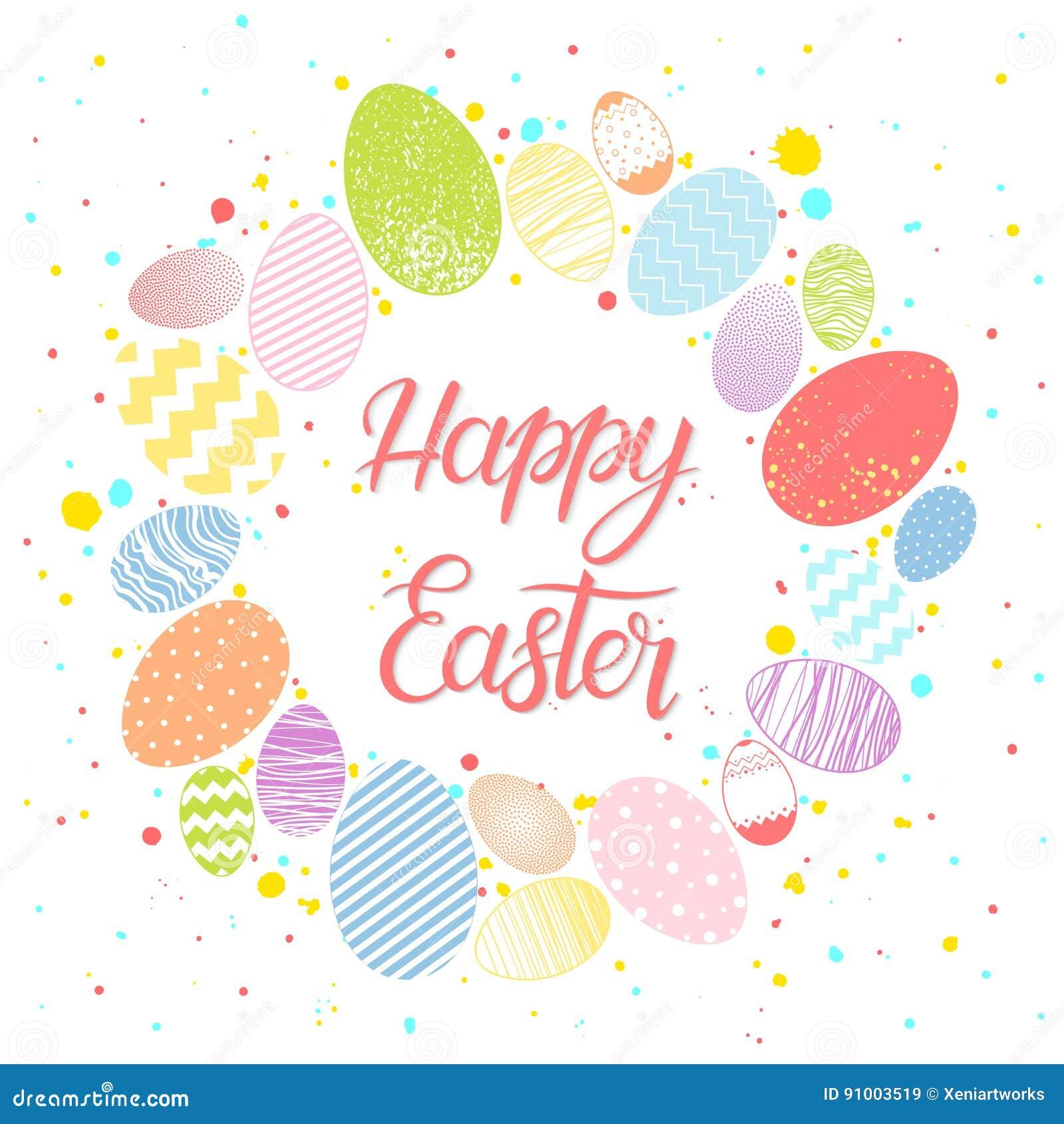 Easter Seasons Greetings Card Stock Illustration Illustration Of