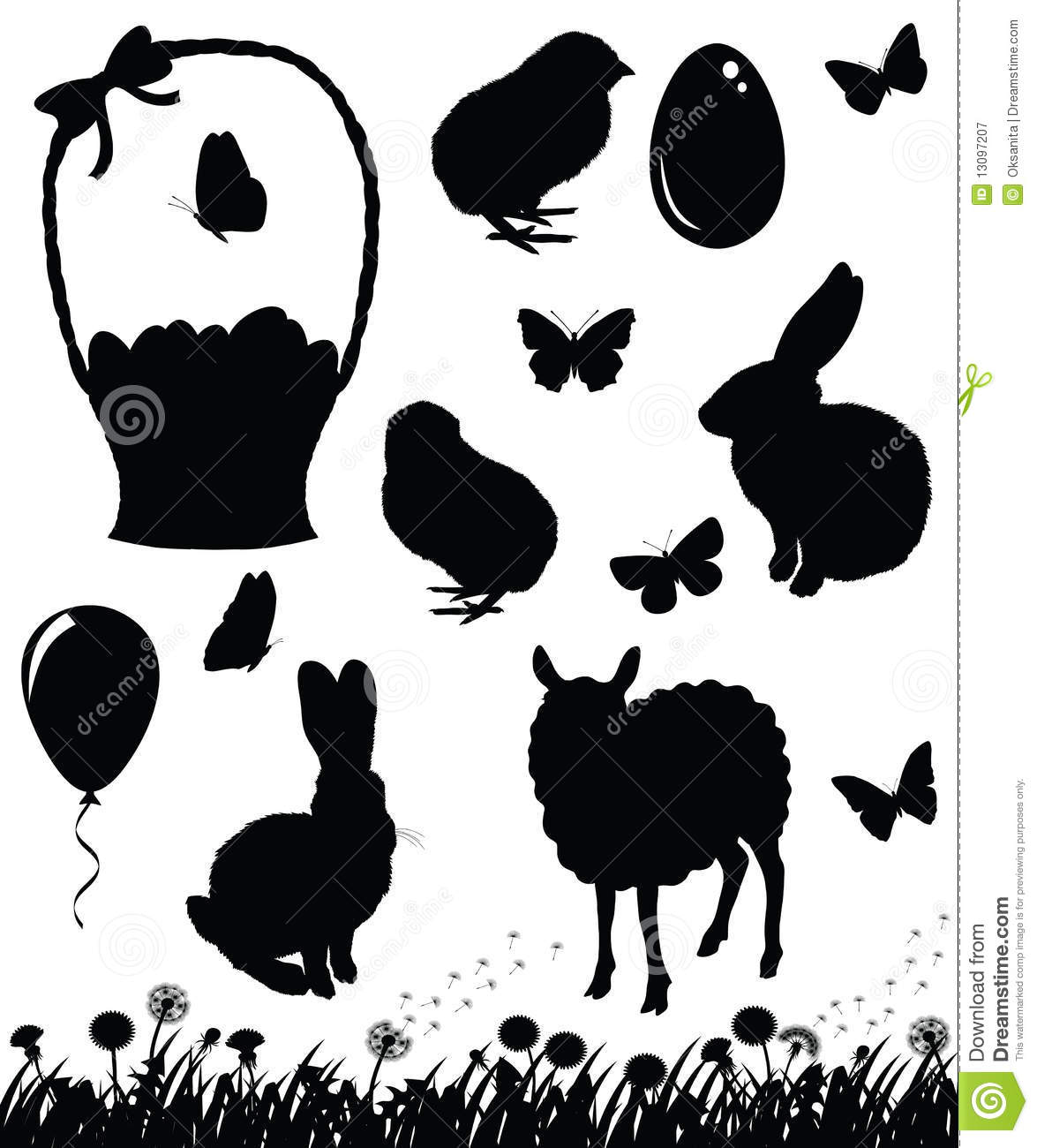 printable easter silhouette craft easter silhouettes stock illustration illustration of 5288