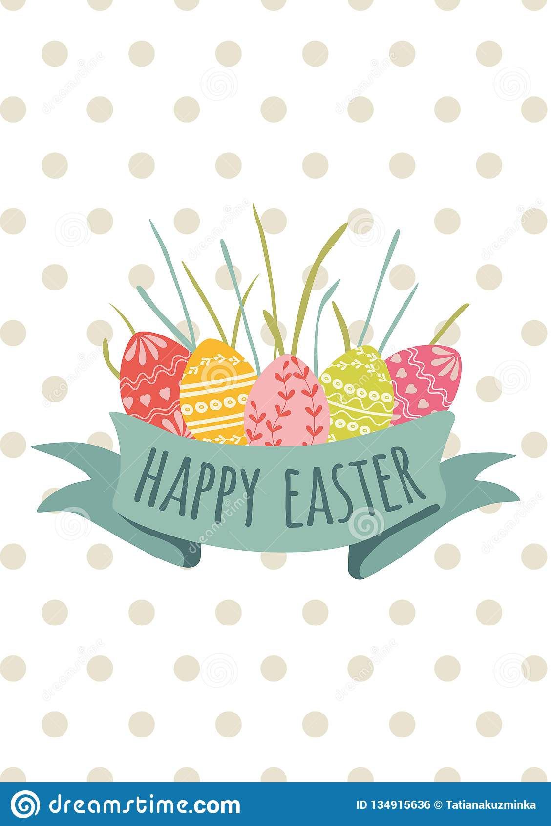 image relating to Happy Easter Cards Printable called Ribbon With Words Delighted Easter Card Templates With Eggs Gr