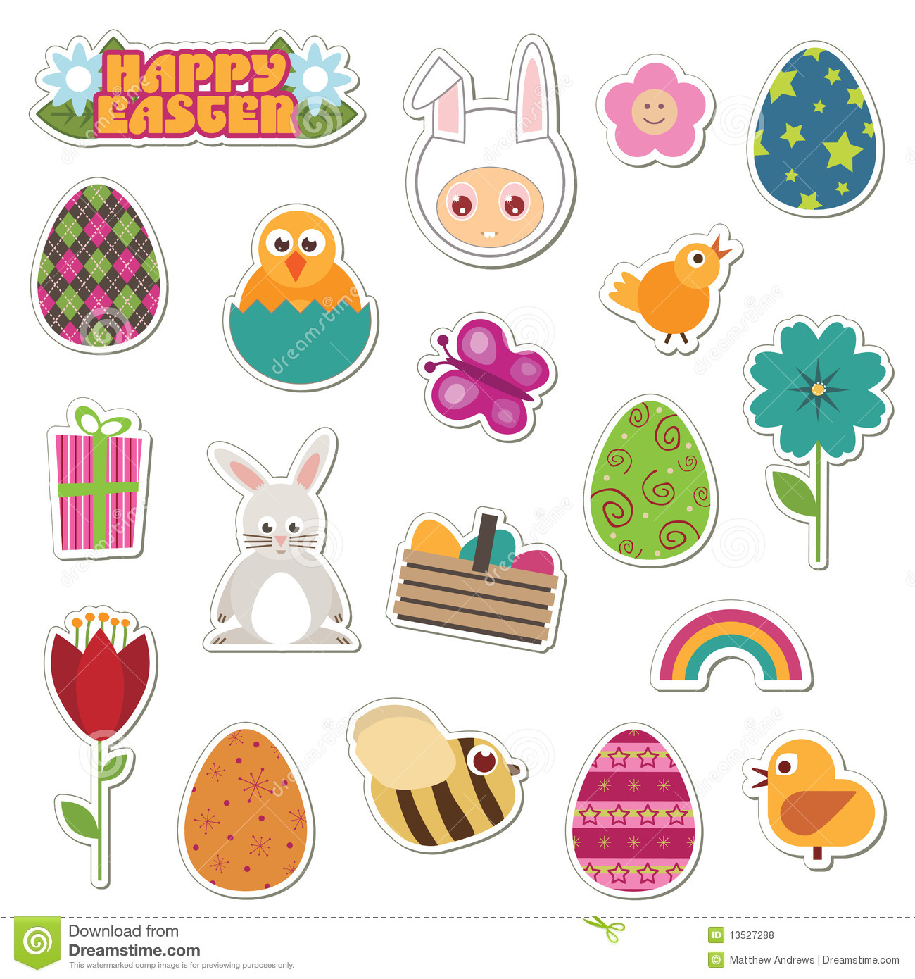 Easter Stickers Royalty Free Stock Photos - Image: 13527288