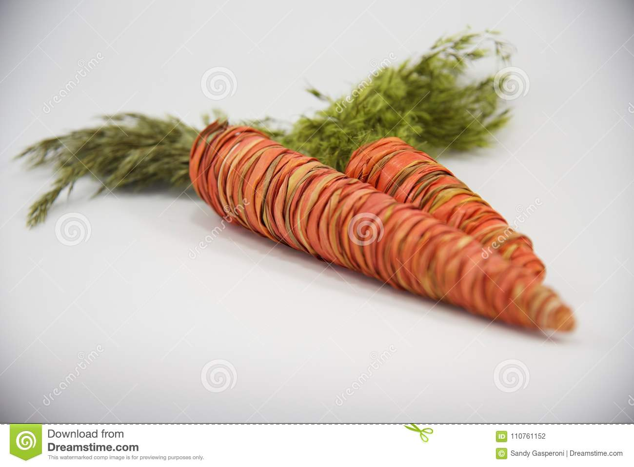 Easter Straw Decorative Carrots Greeting Card Stock Photo   Image ...