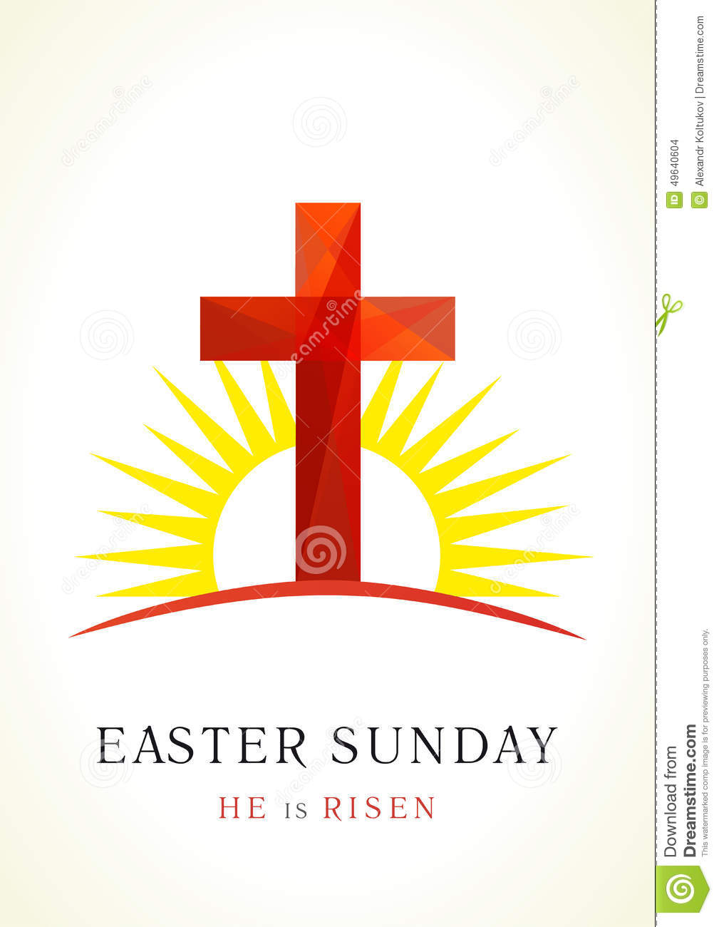 easter sunday card stock vector image 49640604