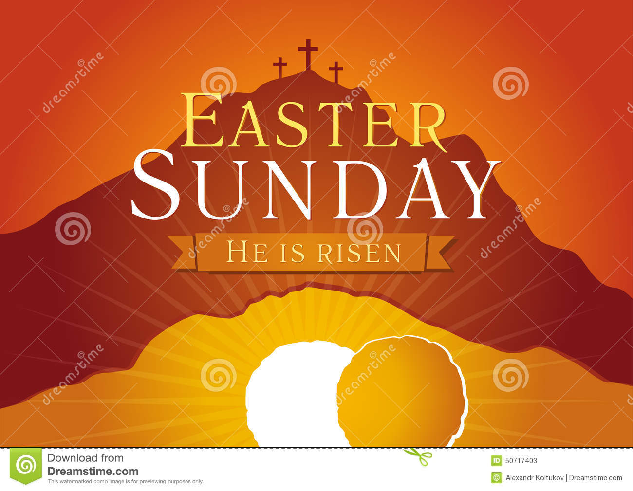 Easter Sunday, He is risen.