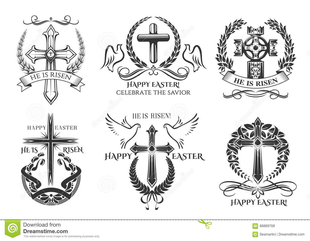 Easter symbol crucifix for vector paschal greeting stock vector easter symbol crucifix for vector paschal greeting biocorpaavc Image collections